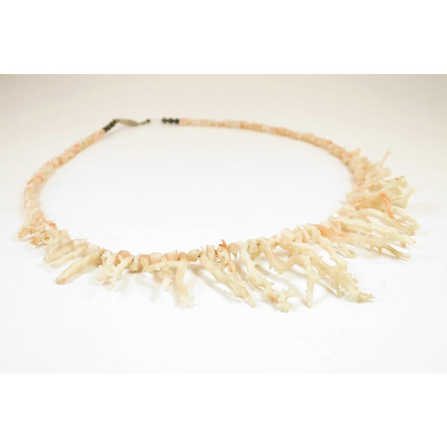 Art Deco Angel Skin Coral Branch Necklace 1930s For Sale - Image 3 of 11