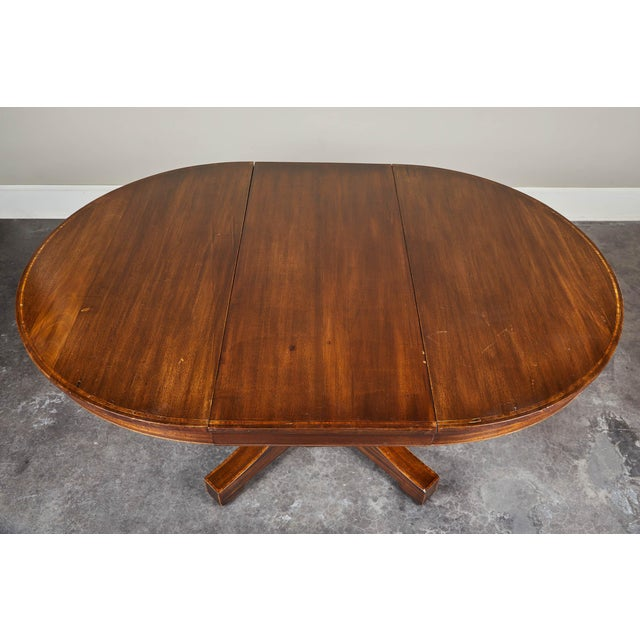 1900 - 1909 19th C. English Mahogany Pedestal Table For Sale - Image 5 of 9
