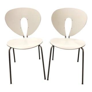 Stua Jesus Gasca Orange Globus Chairs - A Pair