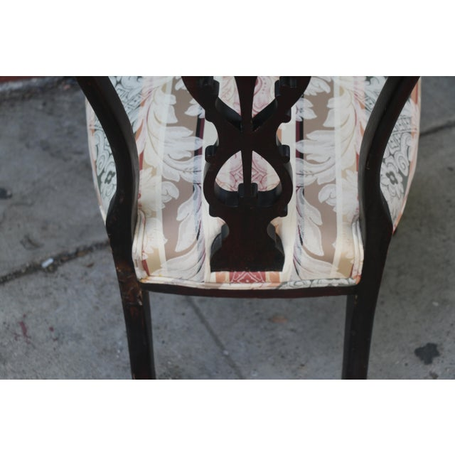 Early 1900's Italian Low Chairs- A Pair For Sale - Image 4 of 9