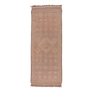 1970s Pink Moroccan Berber Gallery Rug For Sale