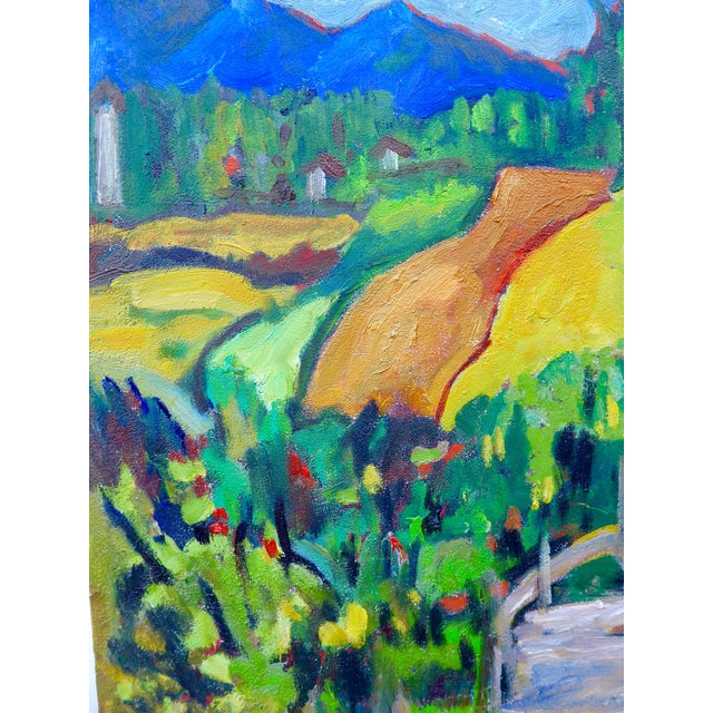 Swiss Farm in Summer Plein Air Painting - Image 2 of 6