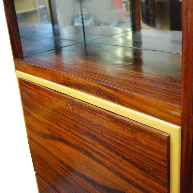 High Style Art Deco Macassar Ebony Vitrine Cabinet & Secretary Desk - Image 4 of 7