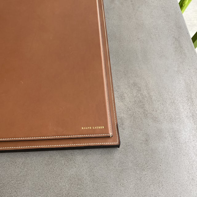Ralph Lauren Ralph Lauren Brennan Leather Desk Blotter For Sale - Image 4 of 12