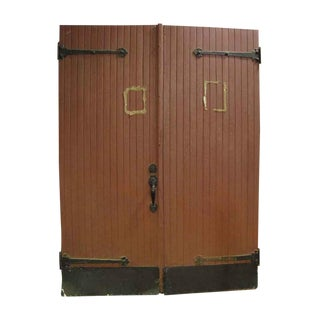 Pair of Barn Doors With Hinges