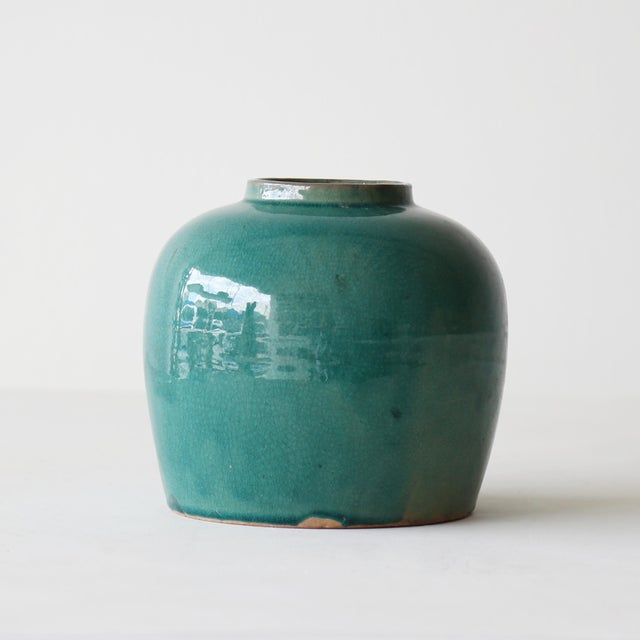 Contemporary Minimalist Blue Ginger Jar For Sale - Image 3 of 5
