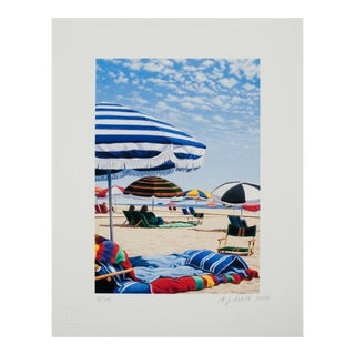 "Dj Hall ""Under the Umbrellas"" Giclee Print Limited 156/190 Signed For Sale"