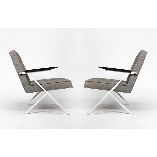 Textile Ladislav Rado Cantilevered Lounge Chairs for Knoll and Drake, 1950s For Sale - Image 7 of 10