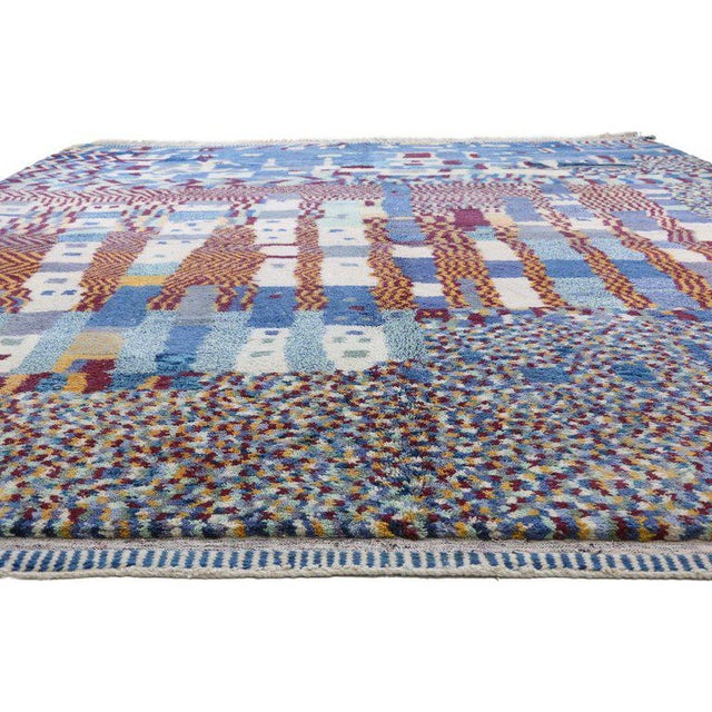 Early 21st Century Contemporary Berber Moroccan Rug - 12′3″ × 12′8″ For Sale - Image 5 of 9