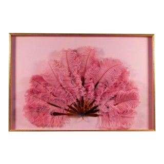 Circa 1910 Pink Marabou & Tortoiseshell Framed Fan For Sale