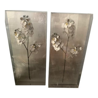 John Richard Silver Orchid I and II - a Pair For Sale
