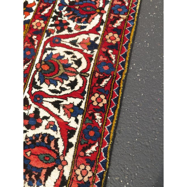 Vintage Hamadan Style Approx. 9 x 12 Room Size Rug. Nearly 30 Years Old Details: High Quality Well Cared For Hand Woven...