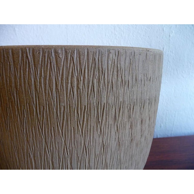Boho Chic Gainey Mid Century Modern Sgraffito Planter For Sale - Image 3 of 6