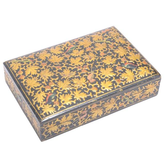 Golden Maple Leaf Kashmiri Box - Image 1 of 5