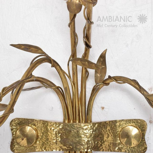 Aluminum Pair of Mid-Century Modern Italian Wall Sconces For Sale - Image 7 of 8