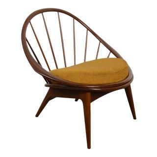 Ib Kofod Larsen Hoop Lounge Chair Selig Møbelfabrik Danish Modern For Sale