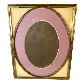 Vintage/Antique Etched Gold Metal Wall/Table Top Picture Frame For Sale