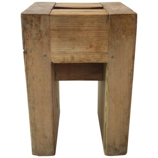 Jean Prouvé With Guy Rey-Millet, Refuge De La Vanoise Wood Stools - Set of 22 For Sale