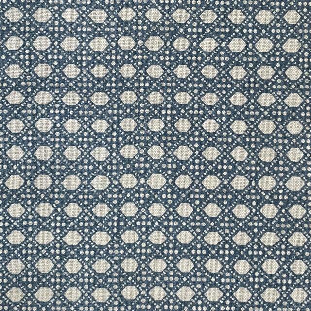 LuRu Home Wickerwork Fabric, 1 Yard in Pond For Sale