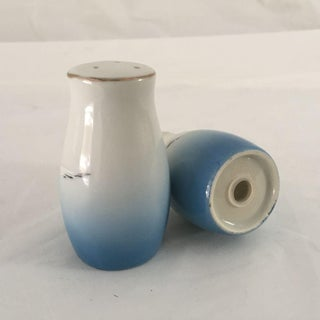 Vintage Blue & White Flying Seagulls Salt & Pepper Shakers - A Pair Preview
