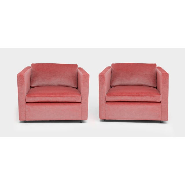 Stunning pair of Charles Pfizer Lounge Chairs for Knoll. The pieces are from the iconic renovation of the 655 Madison...