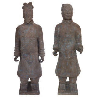 Contemporary Life-Size Chinese Terracotta Army Warriors For Sale
