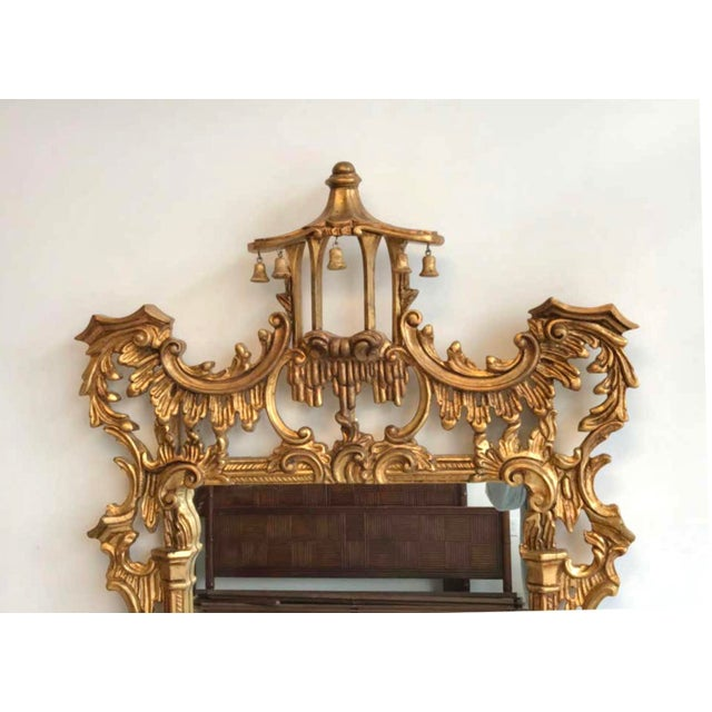 Vintage Chinoiserie Pagoda Mirror For Sale - Image 4 of 6