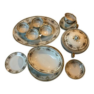 Melody Czechoslovakian Dinnerware Set For Sale