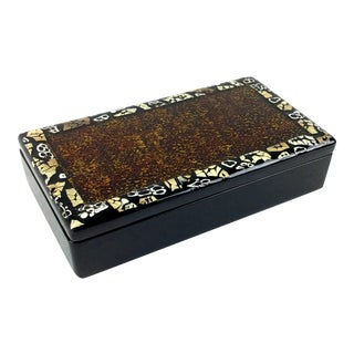 Vintage Artisan Lacquered Covered Box by Artex Saigon For Sale