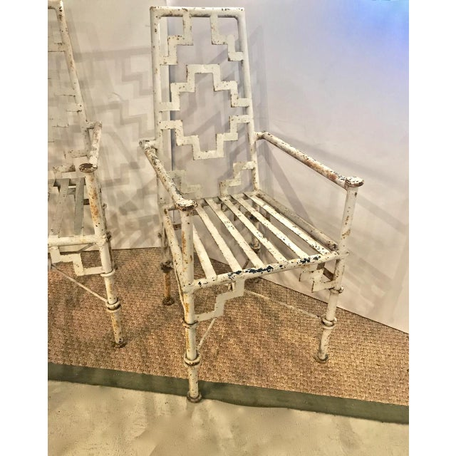 Early 20th Century Art Deco Iron Patio Chairs - a Pair For Sale - Image 5 of 9