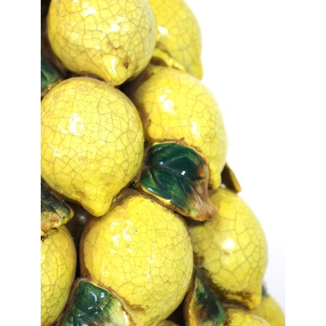 Tall Italian Lemon Topiary Majolica For Sale - Image 4 of 7