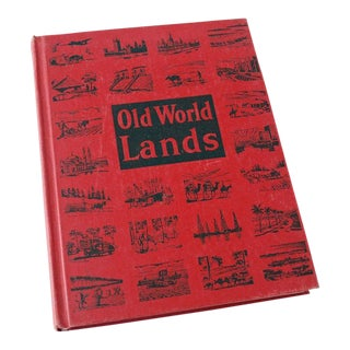 "1940s Vintage ""Old World Lands"" Geography School Book For Sale"