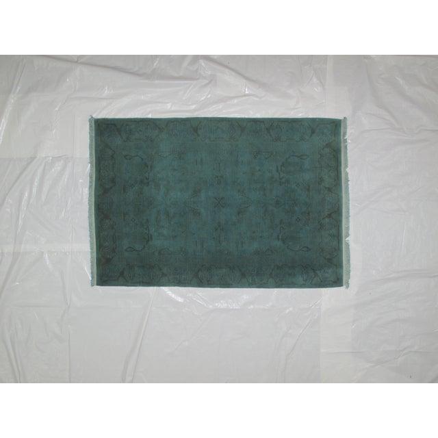 """Leon Banilivi Over-Dyed Green Wool Rug - 6' X 4'3"""" - Image 2 of 5"""
