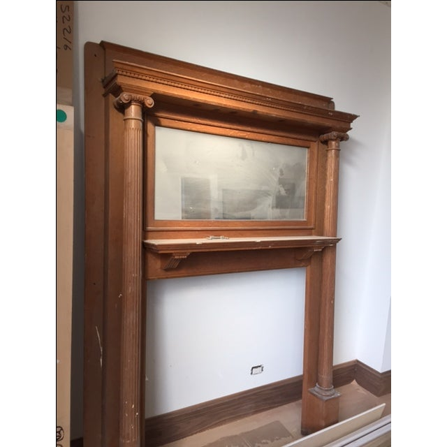 American Victorian Fireplace Mantel - Image 3 of 6