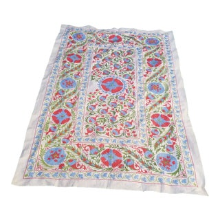 Amazing Embroidered Pomagranate Suzani Bed Cover For Sale