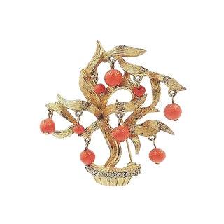 1960s Pauline Rader Beaded Tree Pin For Sale