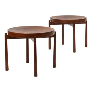 Swedish Solid Teak Flip-Top Tables in the Manner of Jens Quistgaard For Sale