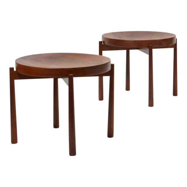 Swedish Solid Teak Flip-Top Tables in the Manner of Jens Quistgaard For Sale