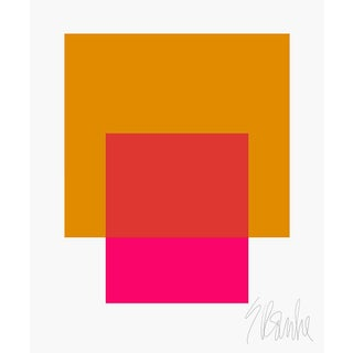 "The Interaction of Gold and Deep Pink Fine Art Print 25"" X 30"" by Liz Roache For Sale"