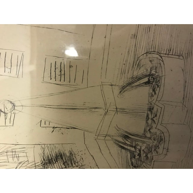 Paper 1940s Abstract Original Raoul Dufy Framed Etching For Sale - Image 7 of 8