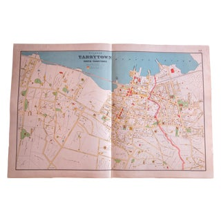 Antique Tarrytown New York Map For Sale