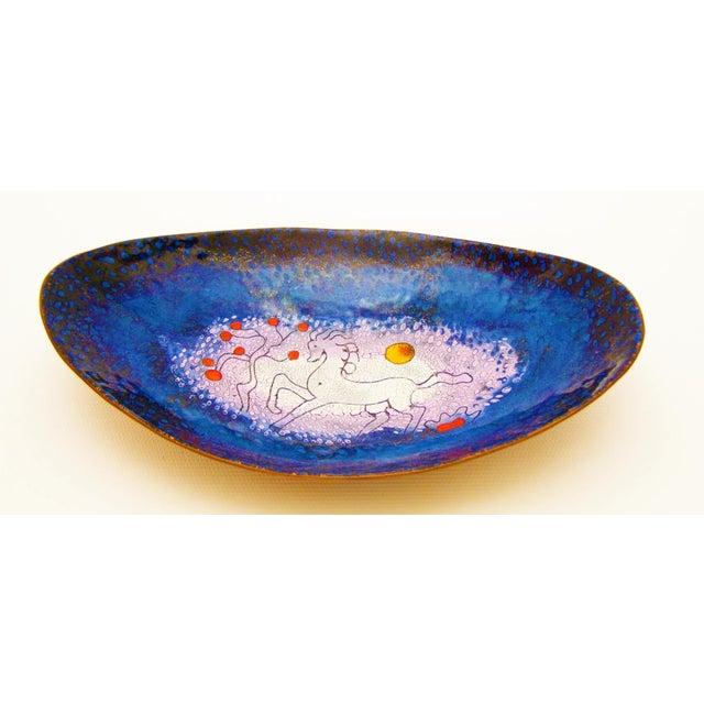 Mid-Century Modern Enamel & Copper Dish by Lopez Rodezno - Image 3 of 11