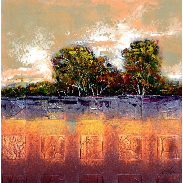 Abstract Abstract Tree Line Painting For Sale - Image 3 of 6