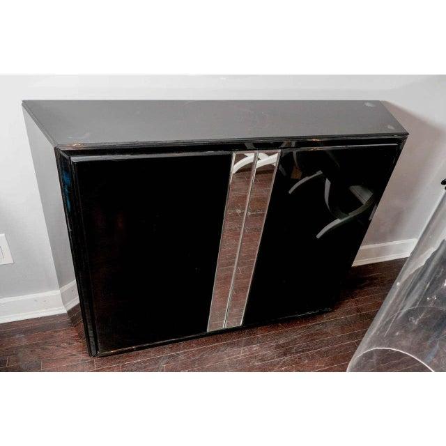 Modern Black Glass Bar For Sale - Image 3 of 5