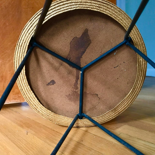 Mid Century Woven Accent Table For Sale In Richmond - Image 6 of 7