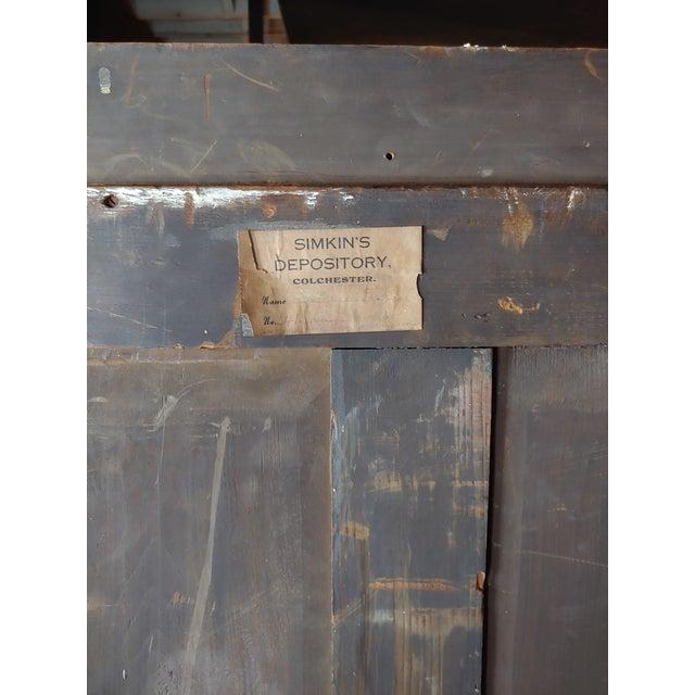 Brown 19th Century English Antique Archival Portfolios & Maps Rack Shelf For Sale - Image 8 of 9