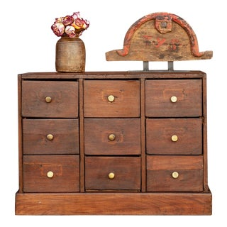 Petite Colonial Teak Chest of Drawers For Sale