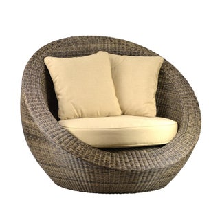 Woven Fiber Round Chair For Sale