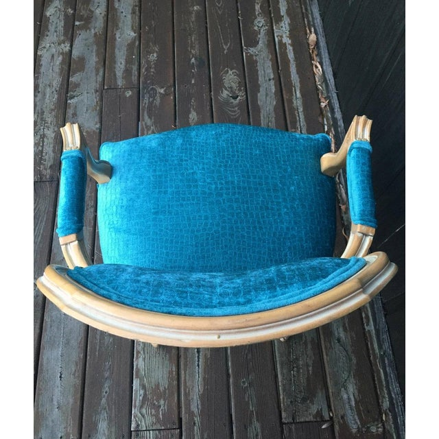 Turquoise French Bergere Chairs - a Pair For Sale - Image 8 of 11