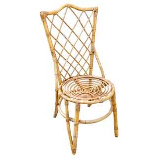 Vintage French Bamboo and Rattan Dining Chairs- Set of 8 Preview